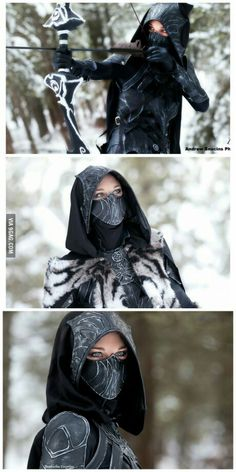 Nightingale Cosplay Skyrim. This is so awesome.