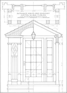 A traditional architecture and planning firm based in Atlanta and New York. Classical Architecture, Art And Architecture, Window Sketch, Historical Concepts, Plan Sketch, House Sketch, Vintage Florida, Concept Home, Florida Home
