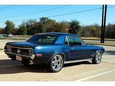1968 Blue Ford Mustang Www.rollin84z.com #mustangclassiccars