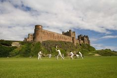 England's most scenic #cricket ground? Has to be Bamburgh Castle | via @visitnland | credit D Webb