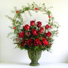 Floral Design Ideas flower arrangement ideas Rose Christmas Floral Arrangement I Think This Arrangement Is Elegant And Interesting