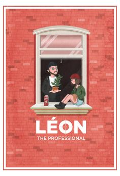 """xombiedirge: Léon & Mathilda by Maria Suarez Inclan / Tumblr 13"""" X 19"""" giclee print, numbered edition of 30. Available HERE. Part of the """"I am the Law/A Life of Crime"""" art show at Hero Complex Gallery / Facebook. All artwork available online, HERE."""