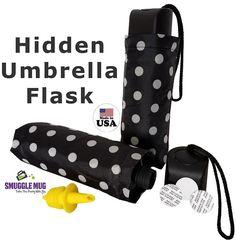 Flask Umbrella 9 Oz No Leaks Pour Spout Festival Concert Event Sneak Alcohol NEW #SmuggleMug