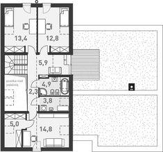 Projekt domu Nowoczesny 1 216,3 m2 - koszt budowy - EXTRADOM Scandinavian Home, House Plans, Anna, Floor Plans, House Design, How To Plan, Build House, House Floor Plans, Architecture Design