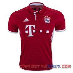 La nueva camiseta Bayern Munich 2017 Primera. Basado en el estilo de la marca de 2016, la Adidas Bayern München camiseta 2016-17 hogar es en su mayoría de color rojo con rayas sutiles, horizontal en la parte delantera, mientras que las rayas de Adidas...