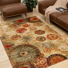 Mohawk Home Printed Indoor/ Outdoor Alexa Medallion Multi Rug (5' x 8') - Free Shipping Today - Overstock.com - 15275158
