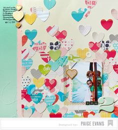 YOU 2 scrapbook layout by Paige Evans   made with her Silhouette CAMEO
