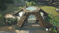 Ark Survival Evolved Bases, Game Ark, Base Building, Building Ideas, Terraria House Ideas, Dinosaur Sketch, Viking House, Conan Exiles, Amazing Minecraft