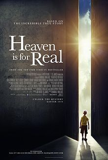 "Heaven Is for Real is a 2014 American Christian drama film directed by Randall Wallace and written by Christopher Parker, based on Pastor Todd Burpo and Lynn Vincent's 2010 book of the same name. The film stars Greg Kinnear, Kelly Reilly, Jacob Vargas, and Nancy Sorel. The soundtrack of the film contains Darlene Zschech's song ""Heaven in Me"".[3] The film was released on April 16, 2014."