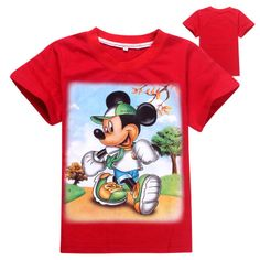 New Baby Boys Girls Mickey Mouse Short Sleeve Tee T-Shirts 6-7 years