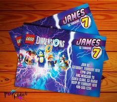 Lego dimensions birthday invitation lego birthdays and superhero lego dimensions choose sonic or batman invitation digital file stopboris Image collections