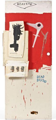 1985 DEAD BIRD by Jean-Michel Basquiat (Haiti 1960~1988 Brooklyn, NY... death by heroin overdose)