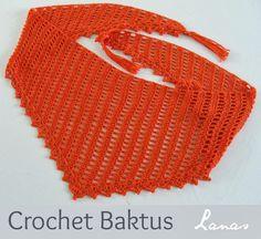 Lanas de Ana: Crochet Baktus scarf (links of free crochet baktus patterns in post) Crochet Shawls And Wraps, Knitted Shawls, Crochet Scarves, Crochet Clothes, Crochet Diy, Crochet Cross, Tunisian Crochet, Crochet Designs, Crochet Patterns