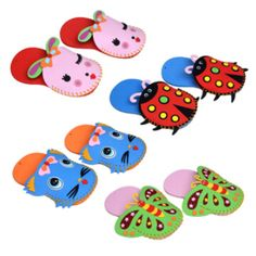 ZCZ 1 Pcs EVA Slippers New Arrival Kids DIY handmade  Eva Foam Stickers Craft Puzzle Baby educational early learning toys W019 //Price: $US $3.48 & FREE Shipping // #onlineshopping #nadmartonline #shopnow #shoponline #buynow