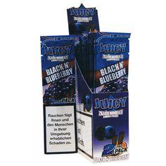 La gran marca Juicy Jay nos ofrece un paquete de dos blunts con el sabor MORA Y ARANDANOS.  Caracterizados por su proceso de aromatización ``triple dip´´. Sobre de doble apertura con cierre zip para conservar el papel una vez abierto.  Precio: 1,00 €.