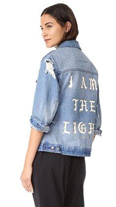 SPIRITUAL GANGSTER I Am The Light Denim Jacket. #spiritualgangster #cloth #dress #top #shirt #sweater #skirt #beachwear #activewear