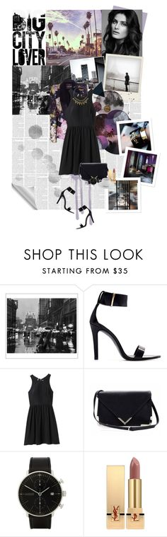 """""""Starry nights, city lights"""" by bethanyk94 ❤ liked on Polyvore featuring Pottery Barn, Polaroid, Zara, Roberto Cavalli, Rebecca Taylor, Sole Society, Yves Saint Laurent, Hermès and Topshop"""