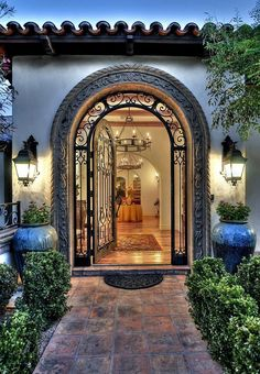 spanish colonial style entry