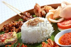 healthy and delicious indonesian food for lunch Stock Photo