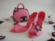 High heels & designer bag