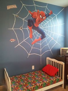 Admiring Boy Bedroom Decorations Ideas With Marvel Theme Boys Bedroom Themes, Girl Bedroom Designs, Home Decor Bedroom, Girls Bedroom, Bedroom Ideas, Boy Room, Kids Room, Superhero Room, Bedroom Accessories
