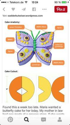 Kuchen Schmetterling
