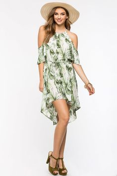 Tropical Flyaway Dress Botanical Fashion 40af85a755330