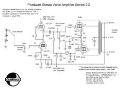 The PoddWatt is a small Class-A Stereo Vacuum Tube Amplifier that will provide about 5 to 7 watts of high quality sound. Tesla Logo, Nicolas Tesla, Valve Amplifier, Speaker Plans, Magic Eyes, Circuit Diagram, Vacuum Tube, Diy Electronics, Electrical Engineering