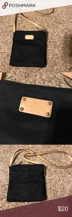 Black Kate Spade Cross Body 100% Authentic Kate Spade Cross Body Purse. Has been used, and does have a couple stains (shown above). kate spade Bags Crossbody Bags