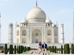 Princess Kate and Prince William Sit on the 'Diana Bench' at the Taj Mahal 24 Years On
