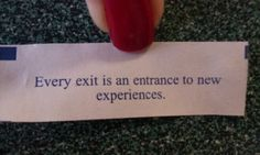 Every Exit is a New Experience