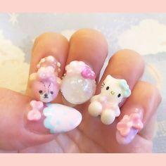 【nail_yuka】さんのInstagramをピンしています。 《こちらのmyネイルとさよならしました(´×ω×`)。。 . 今はバースデーネイルです☽⋆゜ . またUPします✩*.° #ネイリスト #ネイルアート #ネイル #3D #3Dネイル #ハート #アクアリウム #アクアリウムネイル #Heart #nail #nails #3Dnail #mery_naildesign #mery_girl  #mery #tokyo #東京 #japan #サマードーム  #キティ #ハローキティ #サンリオ #キャラクター #キャラネイル #セルフネイル #summer #instgram #nailgram #フットネイル #キティネイル》