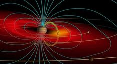 Illustration of the magnetic field around Jupiter. The magnetic field of SIMP is thought to behave in a similar way, but is times more powerful. Image via Yned/Wikimedia Commons Cosmos, Jupiter Facts, Rogue Planet, Nasa Juno, Juno Spacecraft, Electric Universe, Jupiter Moons, Universe Today, Lakes
