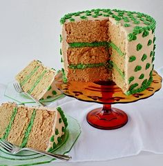 This chiffon cake flavored with coffee and decorated with piped buttercream shamrocks is very similar to my earlier coffee chiffon cake, but with three variations. First, I slightly increased the s…