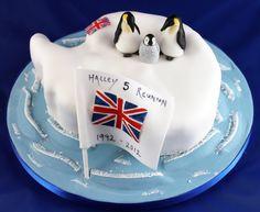 Antarctic expedition reunion cake