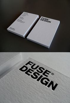 New Fuse Business Card - simple and clean design