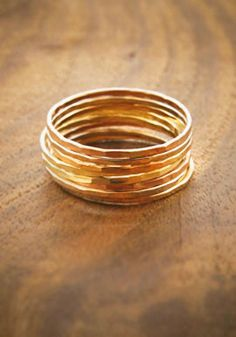 Stacking rings. This is one thing that will never change about me. Set is from Melissa Joy Manning. Got it from The Clay Pot in Park Slope, Brooklyn. The rings are so tiny but the four golds together make quite a statement.