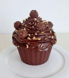 Ferrero Rocher Giant Cupcake by Violeta Glace