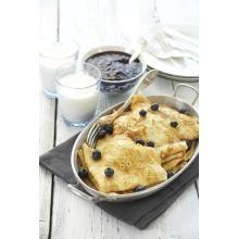 Grunnoppskrift pannekaker | TINE.no Norwegian Food, Norwegian Recipes, Scandinavian, Pancakes, Muffin, Mille Crepe, Favorite Recipes, Crepes, Eat