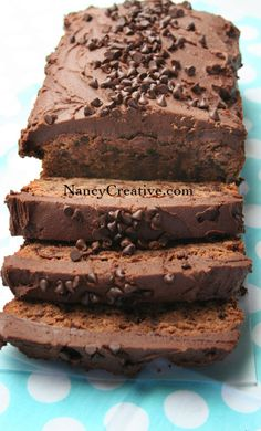 For Chocolate Lovers - Triple Chocolate Pound Cake with Rich Chocolate Buttercream Frosting