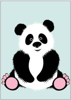 Sparkling+paper+paper+poster+panda+friend