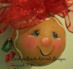 Gingerbread Ornament Pattern - Carolyn Roach Art and Designs