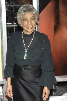 Ruby Dee - 90.  Look at her, vibrant, gorgeous and looks dacades younger.  Hell, she looks younger than some 50 year olds I've seen.