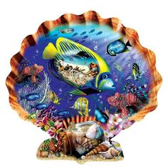 Souvenirs of the Sea Shell Shaped Jigsaw Puzzle 1000 Piece - Off The Wall Toys and Gifts