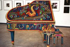 Piano colorful http://pinterest.com/cameronpiano