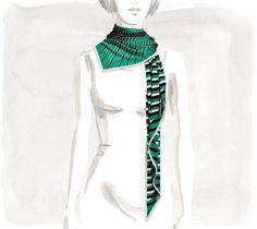 Au Galop Maxi pointe silk jersey triangle scarf