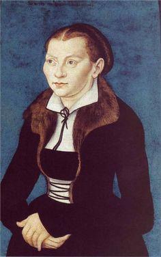 Portrait of Katharina von Bora, 1529, Lucas Cranach workshop