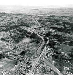 A 1969 aerial photo depicts the interplay between I-5 & 99W. Photo credit: Delano Collection, OR Historical Society