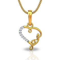 Buy Love You Heart Pendant This pendent made up of 18kt gold significance of love!!! @ jacknjewel