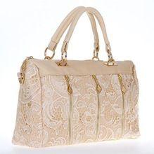 2014 Brand new lace decoration bags leather handbags wholesale handbags shoulder bag Korean fashion women messenger bag(China (Mainland))